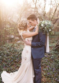 Look how he looks at her - that love in his eyes. Forest Bridals {Caroline + Landon} - AlixAnn Loosle