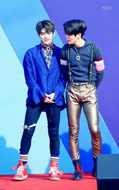 Taeyong and Jaehyun   They can wear and a dress and still look hot