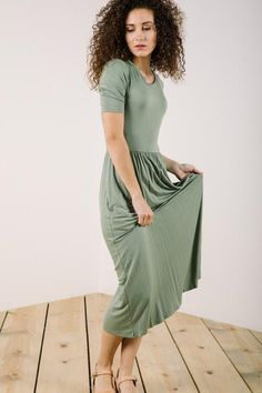 708ad2bda11 The Liya Midi Dress in Sage – Piper  amp  Scoot Sage