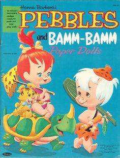 Pebbles and Bamm Bamm paper dolls printables