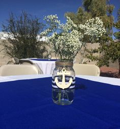 Nautical baby shower center piece.