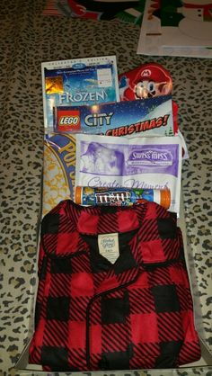My sons Christmas Eve box Night Before Christmas Box, Its Christmas Eve, Christmas On A Budget, Christmas Gift Box, Holiday Ideas, Christmas Ideas, Christmas Decorations, Teen Boxing, Diy Crafts For Gifts