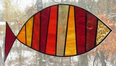 Etsy fish stained glass