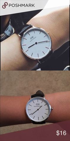 New Daniel Wellington watch As seen on Kylie Jenner this is inspired hence the price. But is so cute nonetheless. Black with silver face Daniel Wellington Accessories Watches