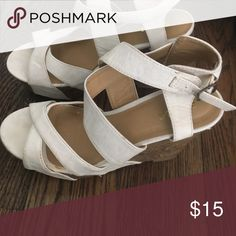 White wedges White wedges worn once Shoes Wedges