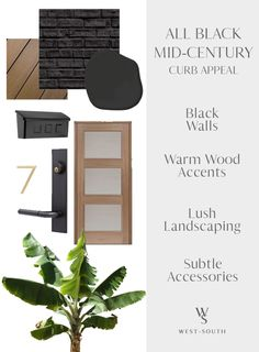 Know Your Home: Mid-Century Modern Style | West | South Mid Century Modern Door, Mid Century Exterior, Mid Century Decor, Mid Century House, Mid Century Modern Design, Modern Exterior Doors, Black House Exterior, House Paint Exterior, Exterior Design