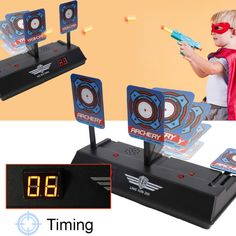 Shoot a Target; Automatically pops up! Cool Sound effects, LCD Display scoring! Only $17.42 Cool Electronic Gadgets, Electronics Gadgets, Friendly Plastic, Educational Toys For Kids, Sound Effects, Classic Toys, Softball, Kids And Parenting, Target