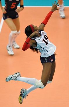 Destinee Hooker... my favourite volleyball player and she wears my number :D