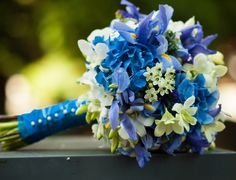 Blue Wedding Bouquets by Dushan Flowers in Vancouver