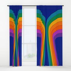 Boardwalk Wing Blackout Curtain by Blackout Curtains, Window Curtains, 70s Decor, Home Decor, Blinds Ideas, Wings, Rainbow, Outdoor Decor, Design