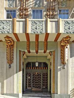 #ArtDeco | Entrance, apartment building, 640 Mason Street, San Francisco