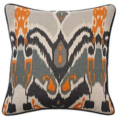 "Z Gallerie African Ikat Pillow 18"" $49.95 - This is just like the dress I like!"