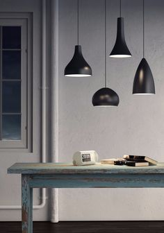 LED metal pendant lamp BLANCNOIR - Olev by CLM Illuminazione