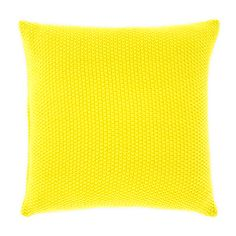 Brighten up mum's day with our Lemon & Ginger Tea and this bright cushion - Moss stitch cushion