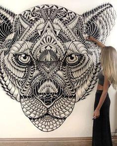 25 Detailed Animal Drawings – Mutually Drawing Tips animal drawings Animal Drawings, Art Drawings, Dotwork Tattoo Mandala, Mandala Drawing, Flower Mandala, Drawing Tips, Drawing Drawing, Mandala Design, Doodle Art