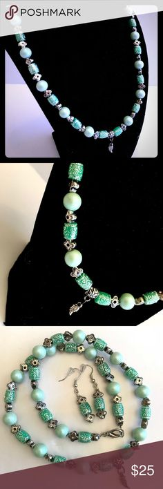 NWOT Handmade Necklace & Earring Set Handmade by my amazingly talented 15yo sister! This necklace is a stunning addition to any gals jewelry collection! A one-of-a-kind design just like you!  All items ship out within 1-2 business days! (Mom-Fri) Jewelry Necklaces