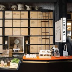 The store, designed and branded by Savvy Studio, is modelled on the country's traditional market stalls which sell their produce in bulk. The shopping experience of these stalls, centred around a direct link between customer, vendor and produce, informs the interior layout...