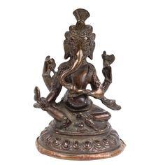 Nepal 19. Jh. A Nepalese Bronze Figure of Ganesha - Ganapati Statuette Népalais
