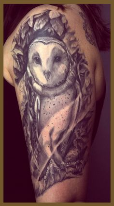 Owl Tattoo.  Artist: Bluecardinalart/JesperHatcher  Location: Norway (Timeless Tattoo oslo)