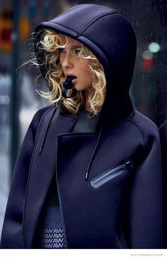 low priced da003 0dd79 Adriana Cernanova Sports Alexander Wang x H M for Elle Czech by Branislav  Simoncik
