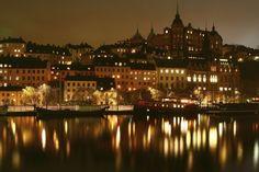 Lights in Stockholm - Wall mural, Wallpaper, Photowall, Home decor, Fototapet, Valokuvatapetit