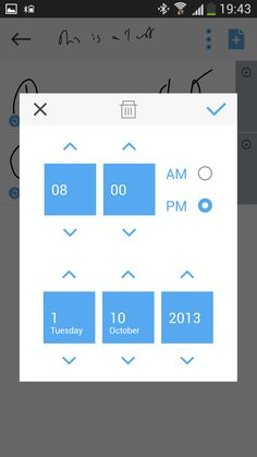 #App #Interface #UI #UX #design #JusWriteApp Date Picker Screen on #Android