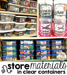 Classroom labels to organize everything including math, art supplies, and classroom supplies