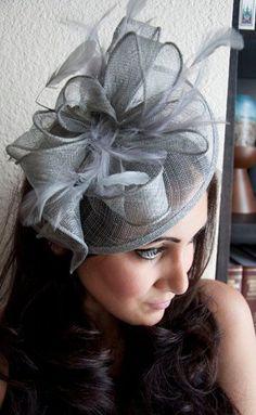 Tissu de nouveau grand automne pourpre rose filet aliceband courses mariage fascinator
