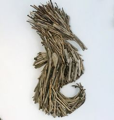 Bespoke Driftwood Seahorse Wall Art from Celtic Coast Creations.