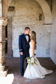 Air Force wedding in Orange County - Mission Basilica San Juan Capistrano - The Pacific Club Newport Beach - San Juan Capistrano, CA - Kaysen Photography
