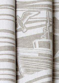 Whitby Linen Fabric - White
