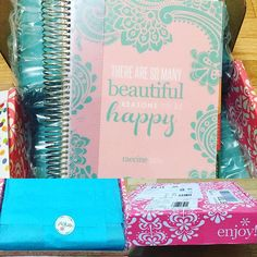 #happymail ! I love my 2016 #erincondren #lifeplanner in #blushpink and #robinseggblue There are so many beautiful reasons to be happy  @raeanecia