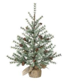 "Ornamental Green Pine Cone Tree 36"" tall"