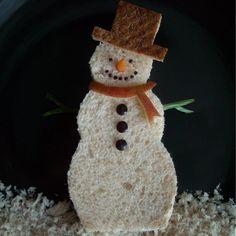 Funky Lunch Snowman sandwich