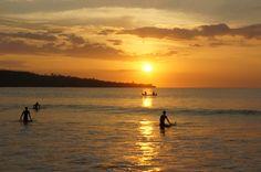 Espectacular sunsets on Jimbaran beach, Bali. Photo taken by Mango Tree Villas