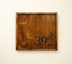 HN1036 Small Plain Numbers Rectangular Address Plaque