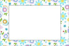 Flores em Amarelo e Azul Claro – Kit Completo com molduras para convites, rótulos para guloseimas, lembrancinhas e imagens! |Fazendo a Nossa Festa