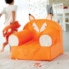 Furry Animal Nod Chair (Fox) | The Land of Nod
