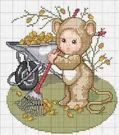 Anim. Tiny Cross Stitch, Baby Cross Stitch Patterns, Cross Stitch For Kids, Cross Stitch Animals, Cross Stitch Charts, Cross Stitch Designs, Cross Stitching, Cross Stitch Embroidery, Stitch And Angel