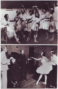 With trainee Ballerinas (London. 1913). With Alexander Volinine (New York. 1917)