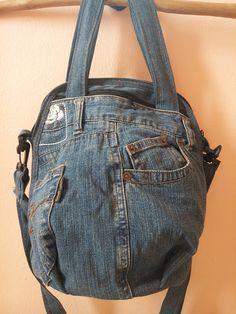 Upcycled Recycled Denim Bag Purse Handicraft by TawanShine on Etsy