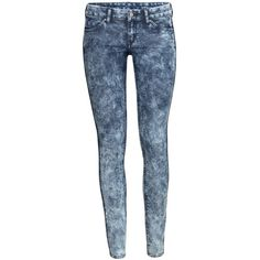 H&M Skinny Low Superstretch Jeans ($30) via Polyvore featuring jeans, denim blue, low rise jeans, h&m jeans, h&m skinny jeans, 5 pocket jeans and skinny low jeans