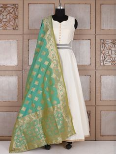 Shop Cream silk lovely anarkali suit online from G3fashion India. Brand - G3, Product code - G3-WSS21658, Price - 6695, Color - Cream, Fabric - Silk,