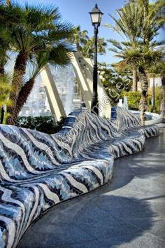 Loved this Mosaic Seat in Torrevieja, Orihuela Costa, Spain - I visted the area in August 2009 for my 30th birthday treat
