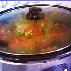 Crockpot paleo stuffed peppers