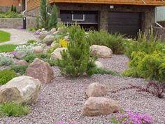 Обилие гравия и неприхотливая растительность - концептуальная основа гравийного сада