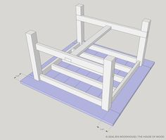 Step-by-step building plans on how to build a DIY square farmhouse table. Free plans by Jen Woodhouse, modified from Ana White's famous Farmhouse Table. Farmhouse Table Plans