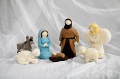 Needle Felted Nativity Sets