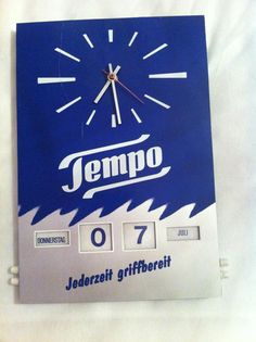 Tempo Wanduhr  Batteriebetriebene Wanduhr von der Marke Tempo. Funktioniert Astrein
