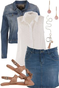 Denim Drama Outfit includes boho bird, JAG, and Just Because - Birdsnest Online Store